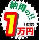 納得の1万円(税抜)